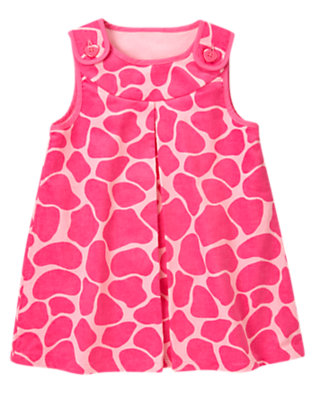 Loveable Pink Giraffe Giraffe Velvet Corduroy Jumper by Gymboree