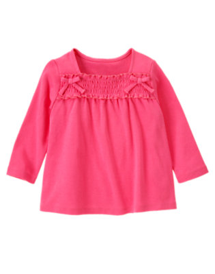 Loveable Pink Smocked Long Sleeve Top by Gymboree