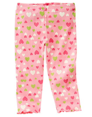Toddler Girls Playful Pink Heart Heart Legging by Gymboree