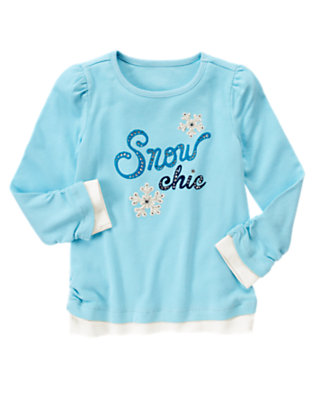Snowflake Blue Gem Snow Chic Tee by Gymboree