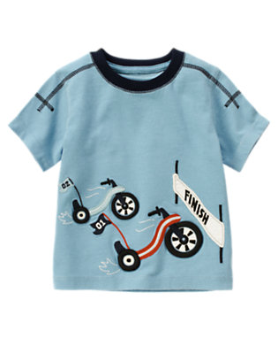 Blue Skies Racing Big Wheels Short Sleeve Tee by Gymboree