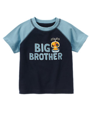 Toddler Boys Midnight Blue Big Brother Trophy Tee by Gymboree