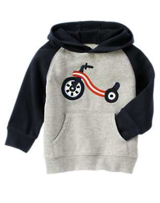 Heather Grey Big Wheel Hoodie by Gymboree
