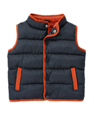Toddler Boys Midnight Blue Quilted Puffer Vest by Gymboree