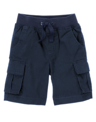 Toddler Boys Midnight Blue Pull-On Canvas Cargo Short by Gymboree