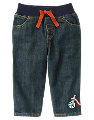 Toddler Boys Denim Big Wheel Pull-On Jean by Gymboree