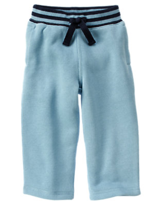 Blue Skies Ribbed Waist Fleece Active Pant by Gymboree