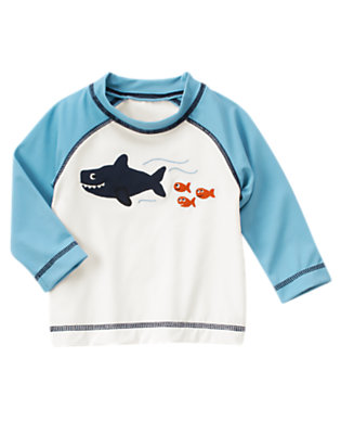 Ivory Sea Creatures Rash Guard by Gymboree