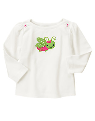 Ivory Grasshopper Long Sleeve Tee by Gymboree