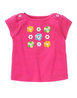 Daisy Pink Embroidered Flower Tee by Gymboree