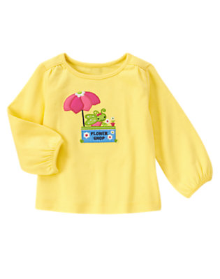 Sunny Yellow Grasshopper Flower Shop Long Sleeve Tee by Gymboree