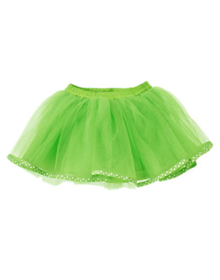 Clover Green Dot Ribbon Tutu Skirt by Gymboree