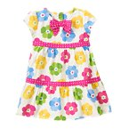 Flower Dot Mixed Print Dress