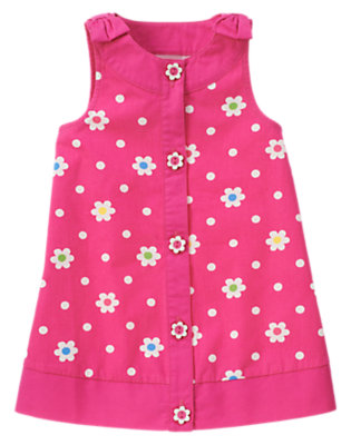 Toddler Girls Daisy Pink Flower Dot Flower Dot Jumper by Gymboree