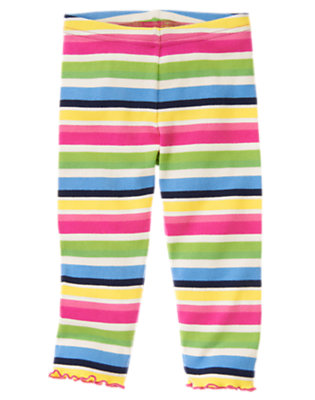 Toddler Girls Clover Green Stripe Stripe Legging by Gymboree