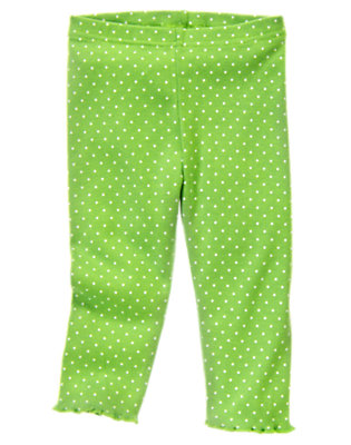 Toddler Girls Clover Green Dot Dot Legging by Gymboree