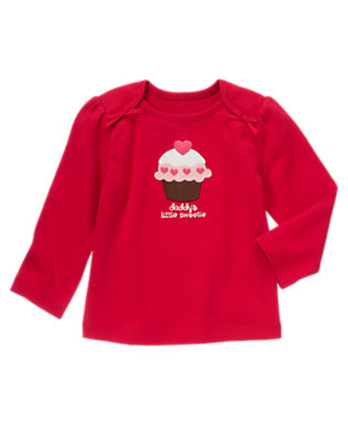 Valentine Red Daddy's Little Sweetie Tee by Gymboree