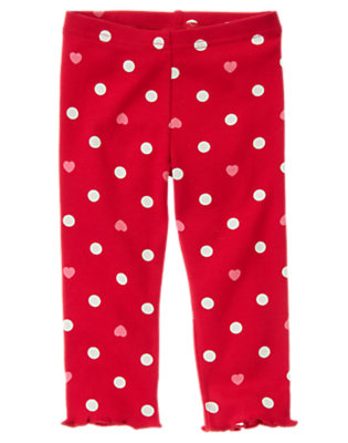 Toddler Girls Valentine Red Dot Heart Dot Legging by Gymboree