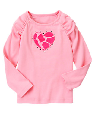 Playful Pink Gem Giraffe Heart Tee by Gymboree