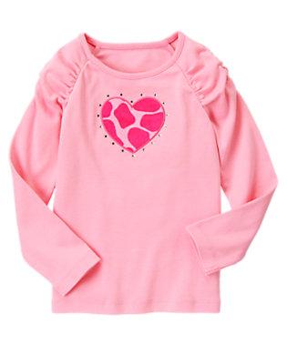 Playful Pink Gem Giraffe Heart Tee by Gymboree