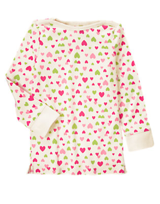 Holiday Ivory Heart Heart Boatneck Tee by Gymboree