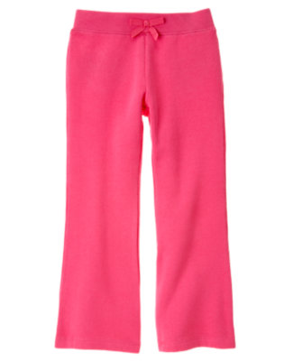 Girls Loveable Pink Heart Pocket Fleece Pant by Gymboree