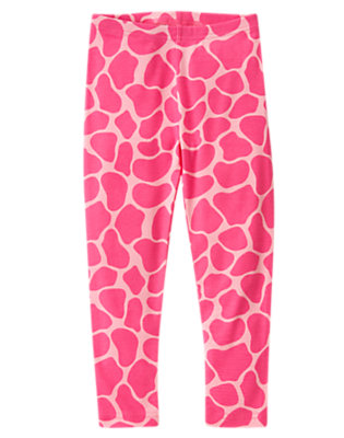 Girls Loveable Pink Giraffe Giraffe Legging by Gymboree