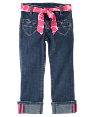 Girls Denim Giraffe Belt Heart Pocket Jean by Gymboree