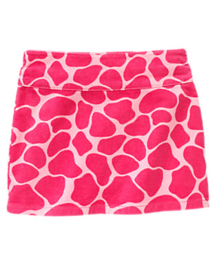 Girls Loveable Pink Giraffe Giraffe Velvet Corduroy Skort by Gymboree
