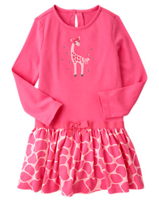 Loveable Pink Gem Giraffe Dress by Gymboree
