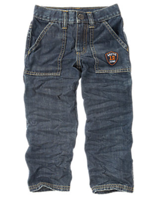 Boys Denim Arctic Zone Patch Carpenter Jean by Gymboree