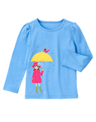 Songbird Blue Gem Umbrella Girl Tee by Gymboree