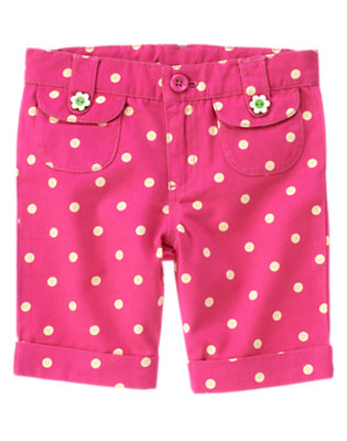Girls Daisy Pink Dot Dot Bermuda Short by Gymboree