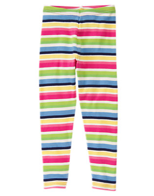 Girls Clover Green Stripe Stripe Legging by Gymboree