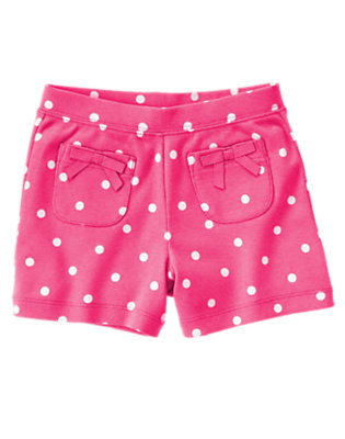 Girls Daisy Pink Dot Dot Short by Gymboree