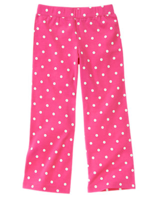 Girls Daisy Pink Dot Dot Flare Pant by Gymboree