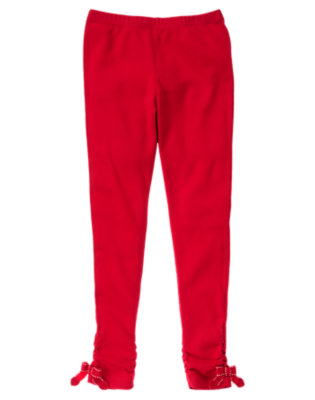Girls Valentine Red Heart Bow Legging by Gymboree