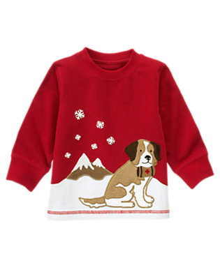 Alpine Red Rescue Puppy Tee by Gymboree
