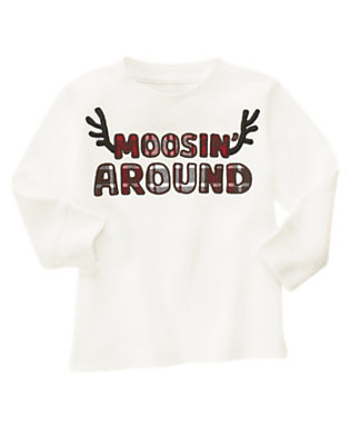 Ivory Moosing Around Thermal Tee by Gymboree