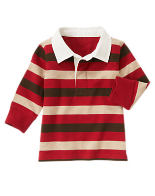 Alpine Red Stripe Stripe Rugby Shirt by Gymboree