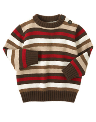 Toddler Boys Winter Khaki Stripe Stripe Sweater by Gymboree