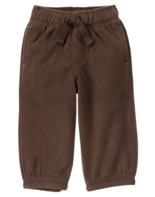 Toddler Boys Dark Brown Microfleece Active Pant by Gymboree