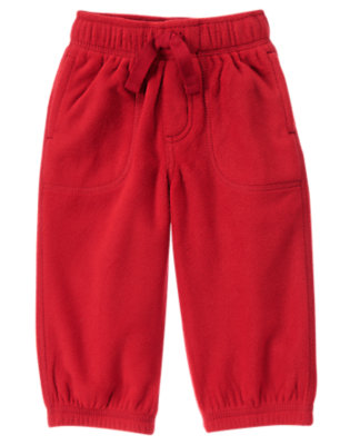 Alpine Red Microfleece Active Pant by Gymboree