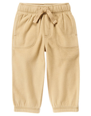 Khaki Microfleece Active Pant by Gymboree