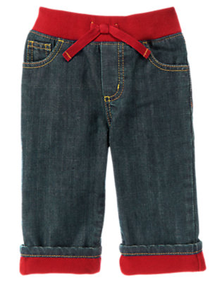 Toddler Boys Denim Microfleece Lined Jean by Gymboree