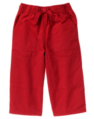 Alpine Red Microfleece Lined Active Pant by Gymboree
