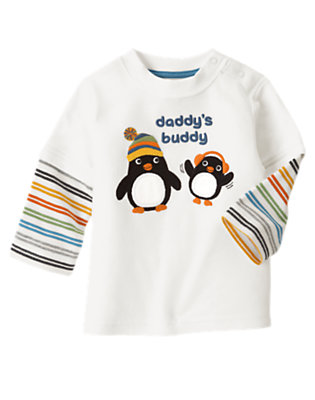 Ivory Daddy's Buddy Tee by Gymboree