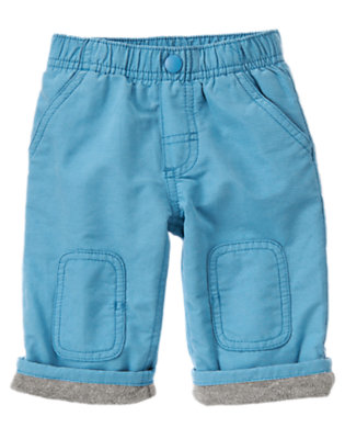 Baby Igloo Blue Cuff Lined Active Pant by Gymboree