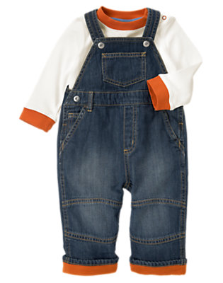 Baby Denim Denim Overall Two-Piece Set by Gymboree