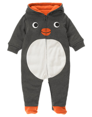 Penguin Grey Penguin Padded One-Piece by Gymboree